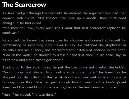 Scare crow in argumentative essay