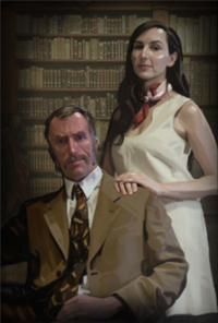 File:200px-Portal2 cave johnson and caroline.png