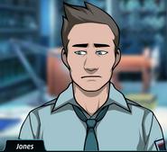 Jones sad