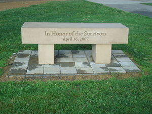 Virginia Tech bench