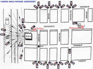 North Hollywood map