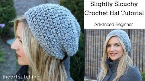 Slightly Slouchy Crochet Hat Tutorial
