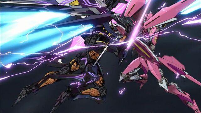 File:Cross Ange ep 24 Arquebus Vanessa blocks Hysterica's attacks.jpg