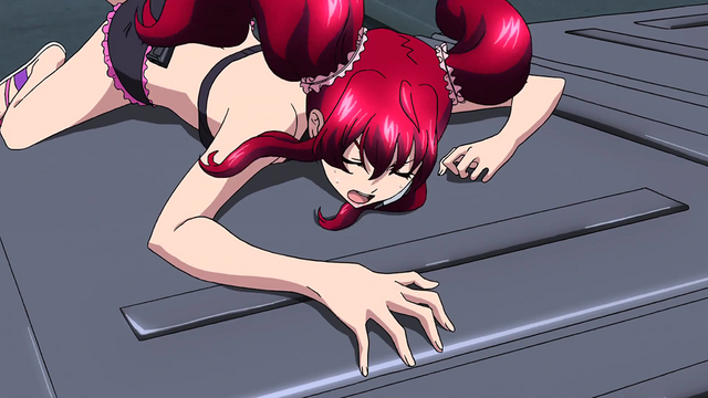 File:Cross Ange 08 Hilda clinging to the rear hatch.png
