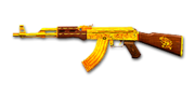 RIFLE AK-47-Gold