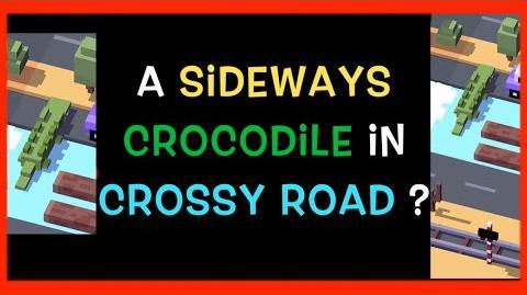 ☆ Sideways Crocodile ☆ Crossy Road Glitch