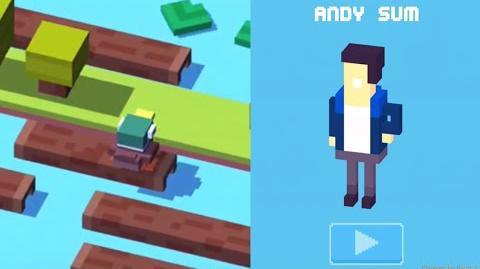 Crossy Road iOS App - How to Unlock Andy Sum Secret Character!