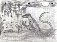 Lizard man of scape ore swamp by straightupraver-d4hiu83