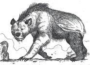 Hyena bear nandi bear or agriotherium by hodarinundu-d6vegnd