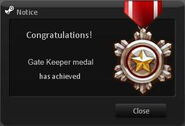 Gate Keeper Medal