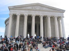 Tourists Jefferson Memorial