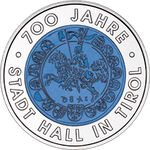 2003 Austria 25 Euro 700 Years City of Hall in Tyrol back