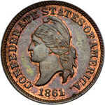 Confederate cent restrike obv2