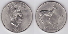 Zambia 2 shillings 1966