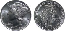 US Mercury Dime