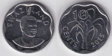 Swaziland 10 cents 2015 WCG