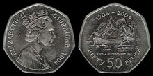Gibraltar 50p Victory combined