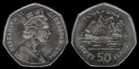 Gibraltar 50 pence coin/Commemorative coins