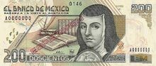 Mexico 200 pesos specimen 1992 obv