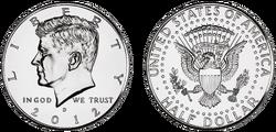 JFK half dollar 2012