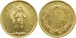 Switzerland 32 franken 1800