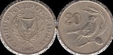 Cyprus 20 cents 1985