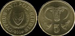 Cyprus 5 cents 2004
