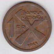 Katanga 1 franc reverse