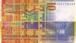 Switzerland 10 CHF rev