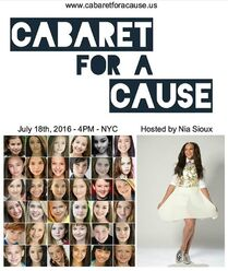 Cabaret for a Cause 2016 poster