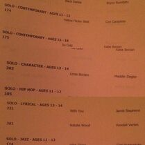 610 Solo sched