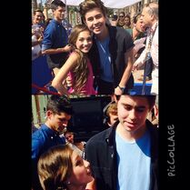 Maddie with Nash Grier 2014 TCA
