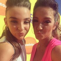 Kendall and Gianna twinning at KCA 2015-03-28
