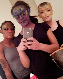 704 Brynn, Camryn and Nia - Group (Makeup) BTS