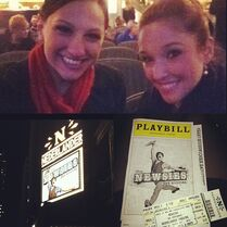 Nina Linhart with Gianna Martello to see John Michael Fiumara Newsies