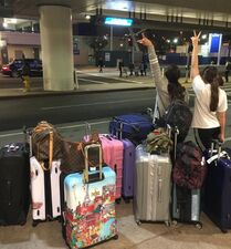 715 Nia and Kendall at airport