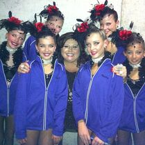Hadley with Thrive team and Abby for Dance Moms 2013-01-09