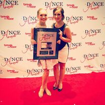 Maddie Ziegler and Gianna Martello - 3rd runner up junior female - The Dance Awards 2015