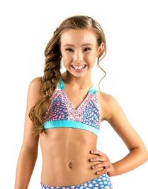Ckt144 cheetah crop top