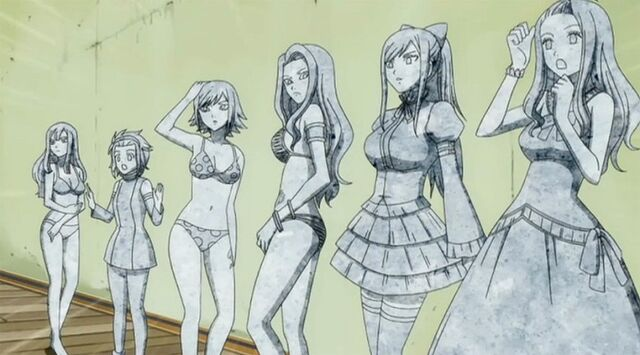 File:Mirajane, Erza, Cana, Juvia, Levy, and Bisca turned to stone.jpg