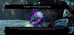 Scepter despoed king