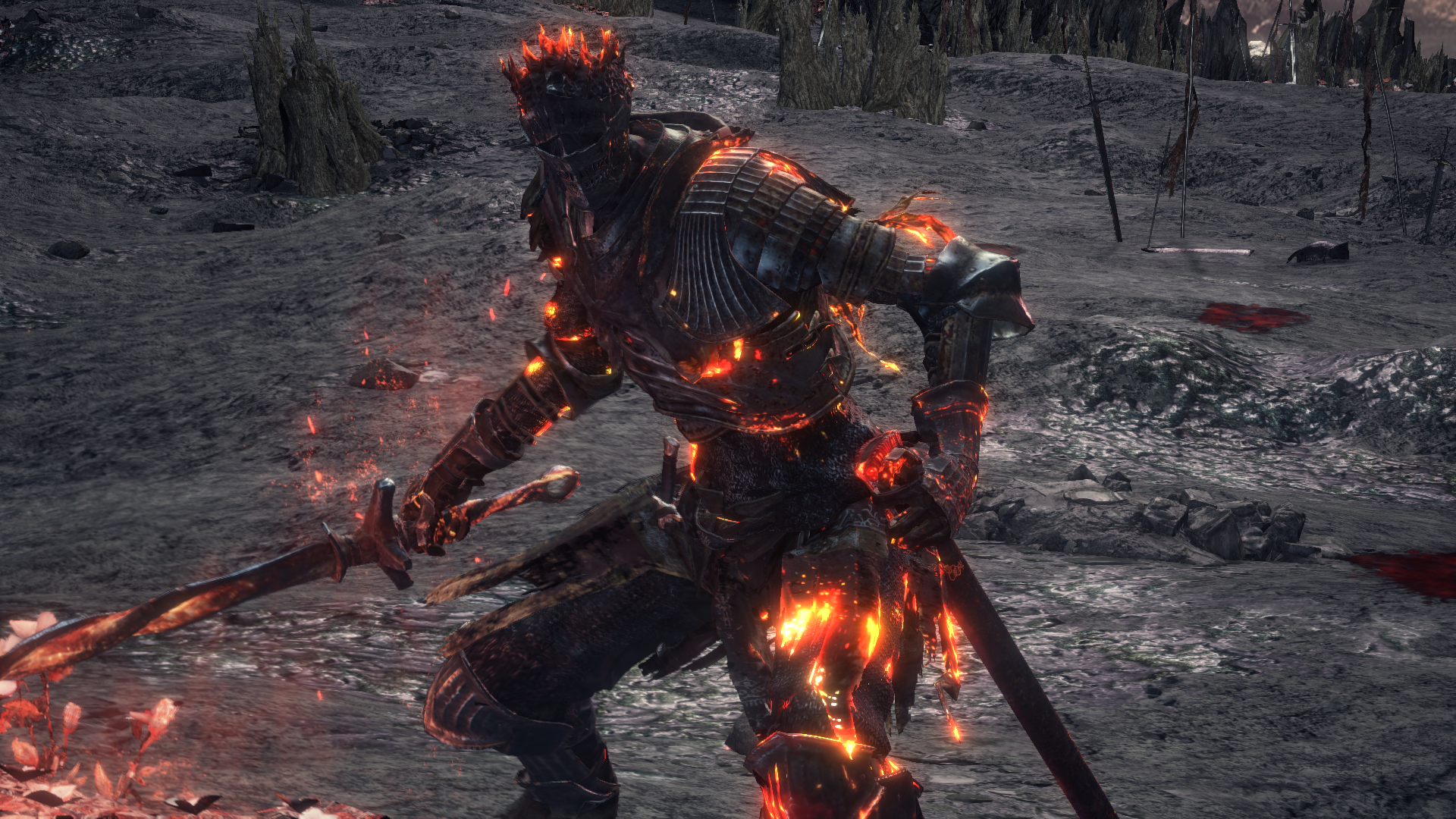 Soul of Cinder during the final boss fight of Dark Souls III