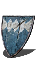 Blue Wooden Shield