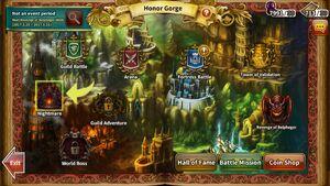 Nightmare Honor Gorge location