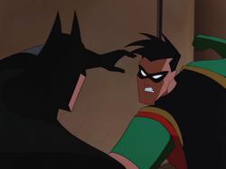 Robin and Batman dispute