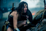 Wonder Woman hides in the trenches