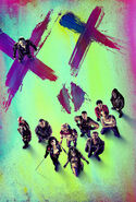 Suicide Squad textless face poster