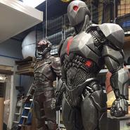 BvS - DoJ - Costumes - Flash and Cyborg - September 17 2016 - 1