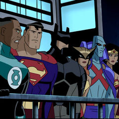 The Justice League in the world where Vandal Savage ruled.