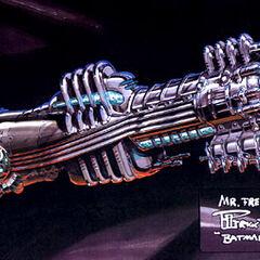 Concept art for Mr. Freeze's gun.